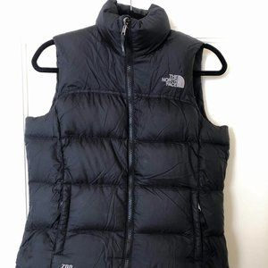 North Face black puffer vest 700, size small